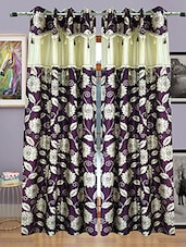 Homefab India Set Of 2 Designer Wine Curtains(HF424) - By
