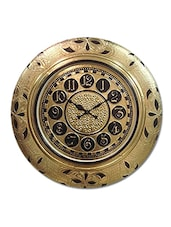 RoyalsCart Golden Metal Analog Wall Clock ( Height 18 ) - By