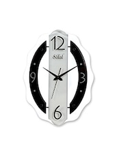 Black, White Engineered Wood Wall Clock - By