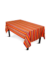 Multi Colour Striped Cotton Table Cloth - By