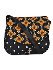 Multi-Print Black Sling Bag -  online shopping for sling bags