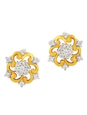 White Gold Plated Special Alloy Earring - By