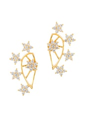 White Gold Plated Cubic Zirconia Studs - By