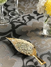Gold , Silver Brass Decorative Tray And Bowl - By