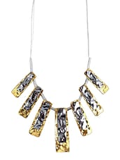 Golden & Silver Metal Alloy  Neck Piece - By