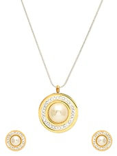 Gold Plated Circular Stainless Steel Jewelry Set - By