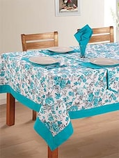 Blue & White 100% Cotton Table Cloth - By