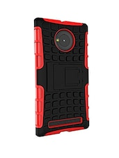 Red, Black Shock Absorbent Back Case For MM Yuphoria -  online shopping for Mobile covers