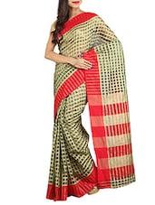 Multicolored Kota Doriya Saree With Blouse - By