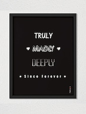 Black Colored Love Wall D��cor With Glass Front And MDF Back - By - 9999296