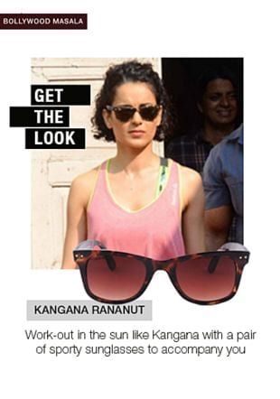 Brown Sunglasses. Online shopping look by pavani