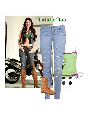 Green Camisoles Low Rise Blue Jeans with Non Precious Silver Bracelets  Online shopping look