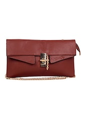 Brown Colored, Leatherette Sling Bag - By