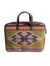 Multi Colored Cotton Laptop Bag - By