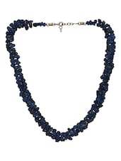 Blue Metal Alloy,stone  Necklace - By