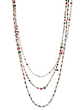 Multi Colored Acrylic Beads, Metal Alloy Long  Necklace - By