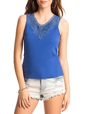 blue cotton top -  online shopping for Tops