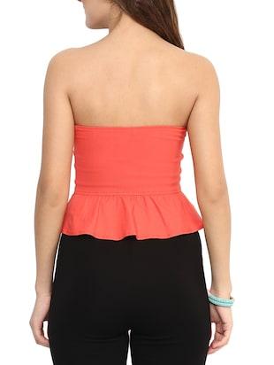 774094fcc4fc4 Buy orange strapless shaped tube top uptownie lite online jpg 310x412 Orange  tube tops