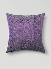 Purple Poly Cotton Set Of 5 Cushion Covers - By