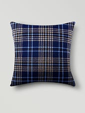 Blue Poly Cotton Set Of 5 Cushion Covers - By