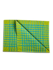 Dhrohar Hand Woven Cotton Table Mat - Pack Of 2 Mats - Green Check - By
