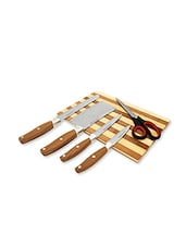 home Belle Wooden chopping board with high quality knife set -  online shopping for Knives