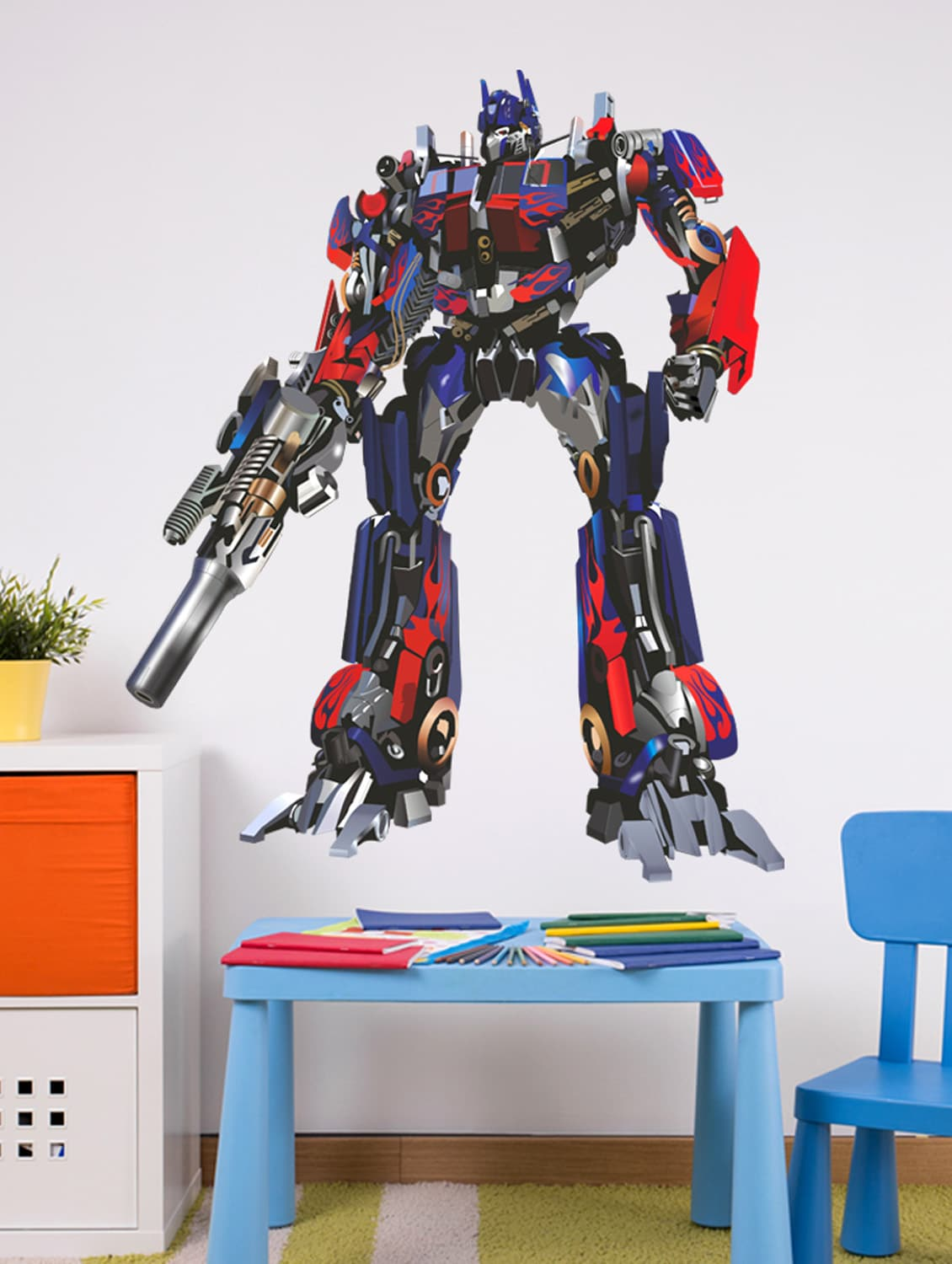 Buy Wall Stickers Transformers Autobots Optimus Prime Boys Room Decor Kids Room Vinyl by Stikerskart - Online shopping for Wall Decals u0026 Stickers in India | ... & Buy Wall Stickers Transformers Autobots Optimus Prime Boys Room ...