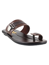 brown leatherette slippers and flip flops -  online shopping for Slippers and Flip Flops