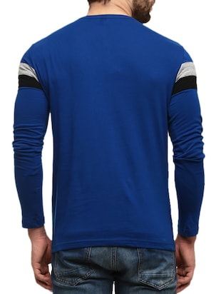 dark blue striped cotton t-shirt - 10420976 - Standard Image - 3