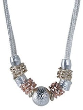 Silver,gold,copper Silver Plated Alloy Metal.  Short Necklace - By