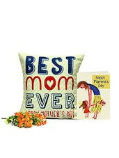 Best Mom Cushion With Wishful Card - GIFTS111065 - By