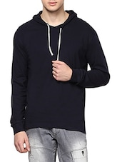 black cotton sweatshirt -  online shopping for Sweatshirts