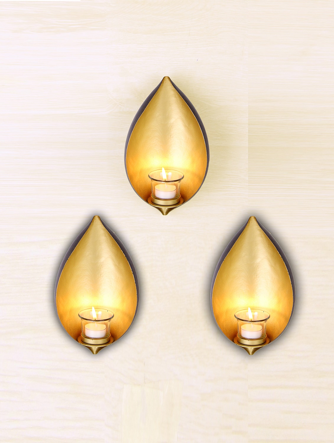 Buy Hosley Set Of 3 Decorative Wall Sconce With Free Tealights by ...