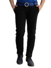black cotton casual trousers -  online shopping for Casual Trousers