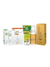 Trichup Natural Skin Care Kit  (Kum Kumadi Tailam (50ml), Facepack (50g), Acnovin Cream (25g), Facewash (60g)) - By