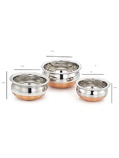 Copper Bottom Baby Handi Cooking Pot Set of 3 PCs -  online shopping for Pots & Pans