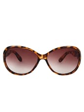 Zyaden Brown Oval Sunglasses For Women 122 - By
