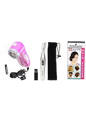 1 Lint Roller , 1 Brush ::1 Eyebrow Hair Remover , 1 Brush , 1 Carrying Pouch:: 1 Free Hairstyle Booklet - By