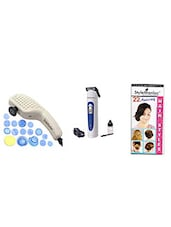 STYLE MANIAC Massager With 19 Attachments & Trimmer - By