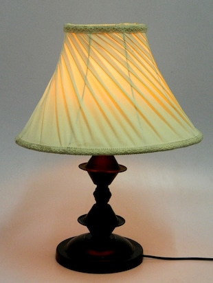 White Metal And Fabric Table Lamp - 1066933 - Standard Image - 3