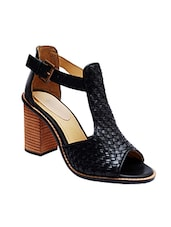 black leather ankle strap sandals -  online shopping for sandals