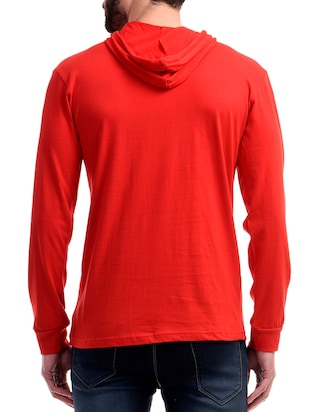 red cotton t-shirt - 10853664 - Standard Image - 3