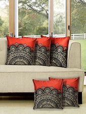 Set of 5 Digital Printed Cushion Cover -  online shopping for Cushion Covers