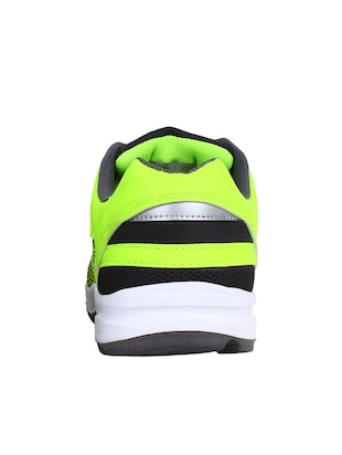 green leatherette sport shoes - 10902067 - Standard Image - 3