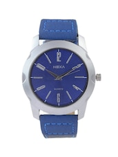 BLUE ROUND DAIL ANALOG WATCH -  online shopping for Men Analog Watches