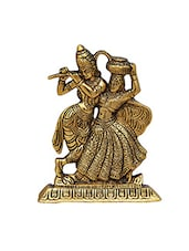 Radha Krishna Antique Golden in Metal -  online shopping for Figurines