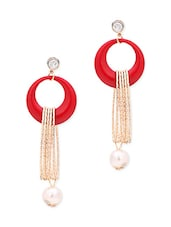 red metal earring -  online shopping for earrings