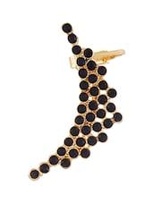 Funky Fashion Black Multi Pretty Stones Ear Cuff For Single Ear - By