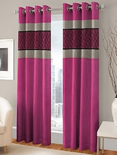 BSB TRENDZ EYELET PINK DOOR CURTAIN SET OF 2 P-138 - By
