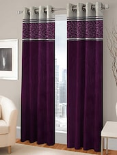 BSB TRENDZ EYELET PURPLE DOOR CURTAIN SET OF 4 C4-224 - By